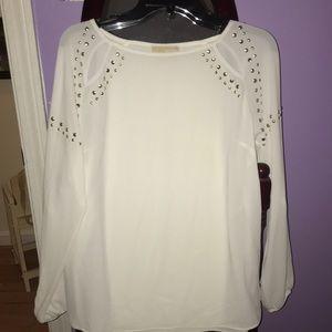White long sleeve Michael Kors blouse